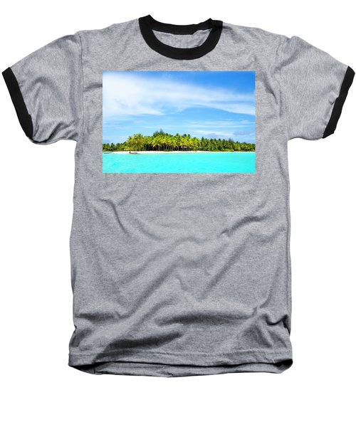 Baseball T-Shirt featuring the photograph Atoll by Sharon Jones