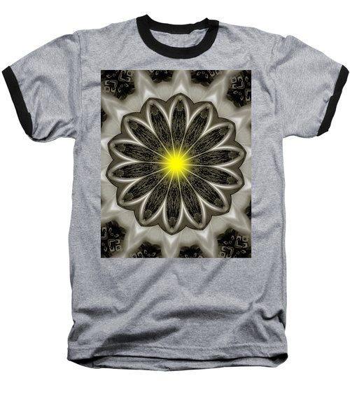Atomic Lotus No. 2 Baseball T-Shirt by Bob Wall