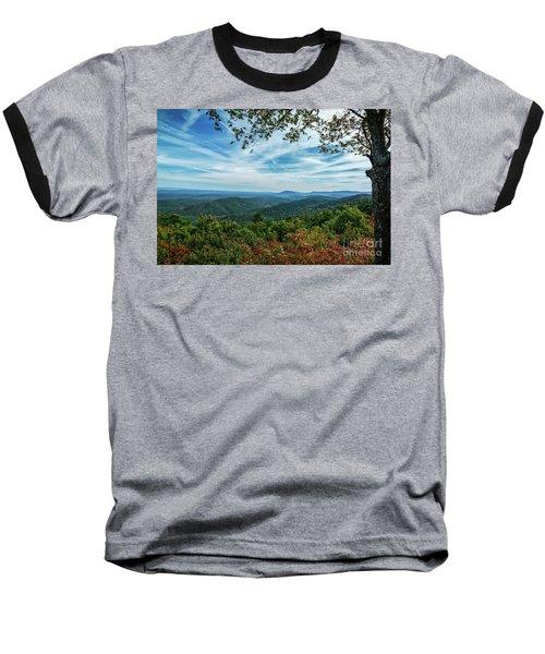 Atop The Mountain Baseball T-Shirt