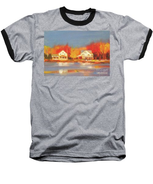 Atsion Lake Baseball T-Shirt by Mary Hubley