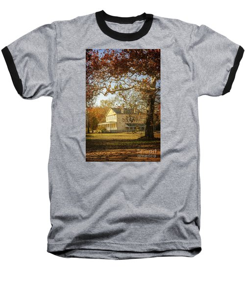 Atsion Mansion Baseball T-Shirt by Debra Fedchin