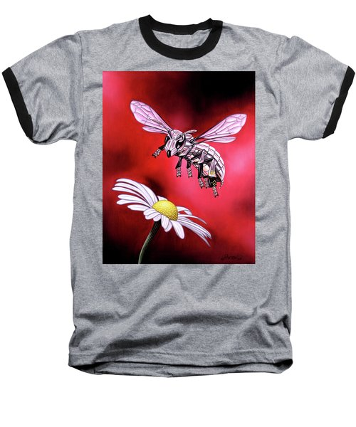 Attack Of The Silver Bee Baseball T-Shirt