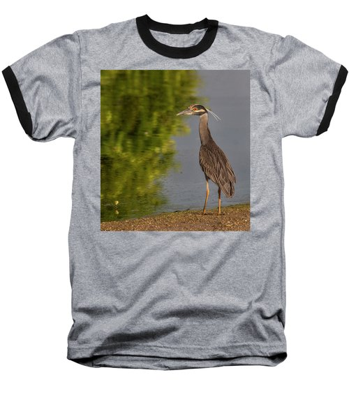 Baseball T-Shirt featuring the photograph Attentive Heron by Jean Noren