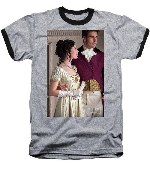 Attractive Regency Couple Baseball T-Shirt by Lee Avison