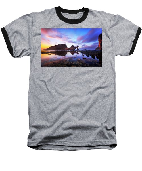 Atuh Beach Dawn Break Scene Baseball T-Shirt