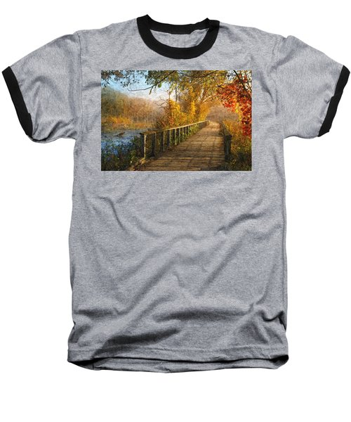 Atumn Emerging - Oil Paint Effect Baseball T-Shirt