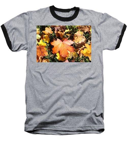 Autumn  Orange  Baseball T-Shirt