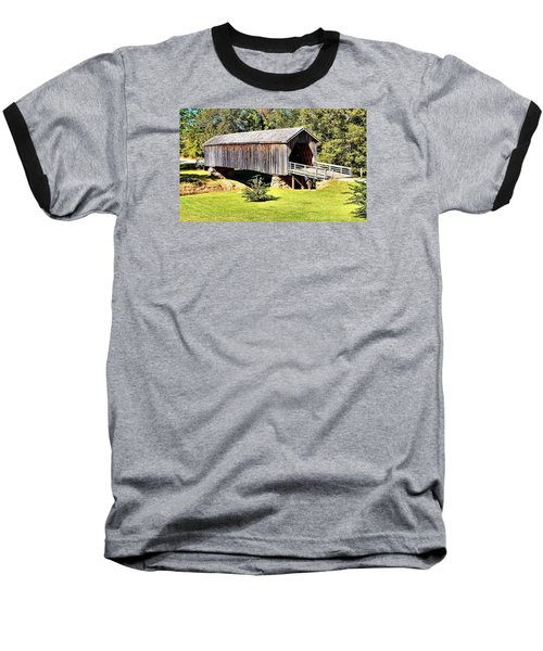 Auchumpkee Creek Covered Bridge Baseball T-Shirt