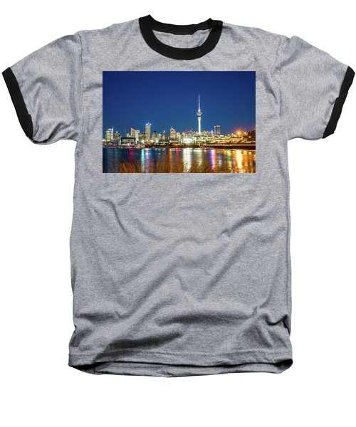 Auckland At Dusk Baseball T-Shirt