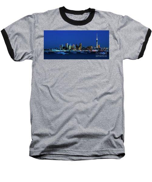 Auckland City Night Lights Baseball T-Shirt