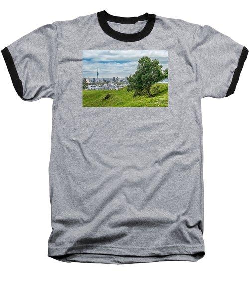 Auckland Skyline Baseball T-Shirt