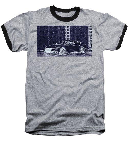 Audi Rs7 Vossen  Baseball T-Shirt by PixBreak Art