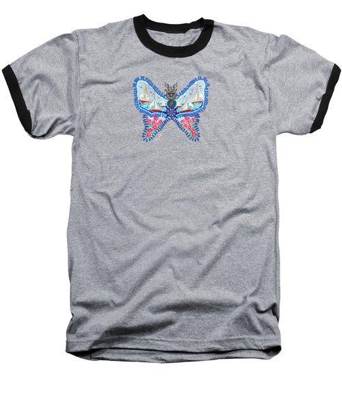 August Butterfly Baseball T-Shirt