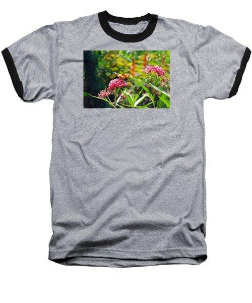August Monarch Baseball T-Shirt by Janis Nussbaum Senungetuk