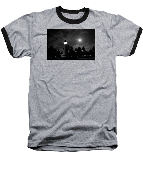 Baseball T-Shirt featuring the photograph August Moon by Adria Trail