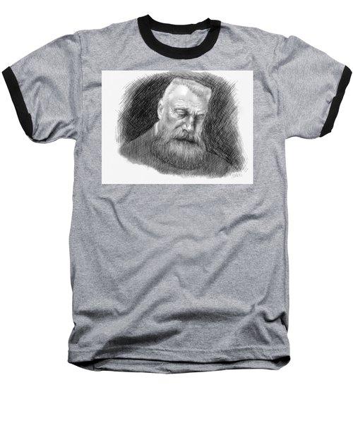 Baseball T-Shirt featuring the digital art Auguste Rodin by Antonio Romero