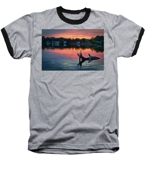 August Sunset Glow Baseball T-Shirt