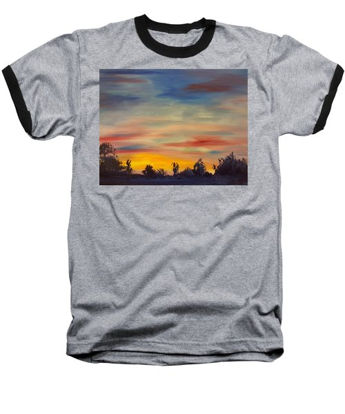 August Sunset In Sw Montana Baseball T-Shirt