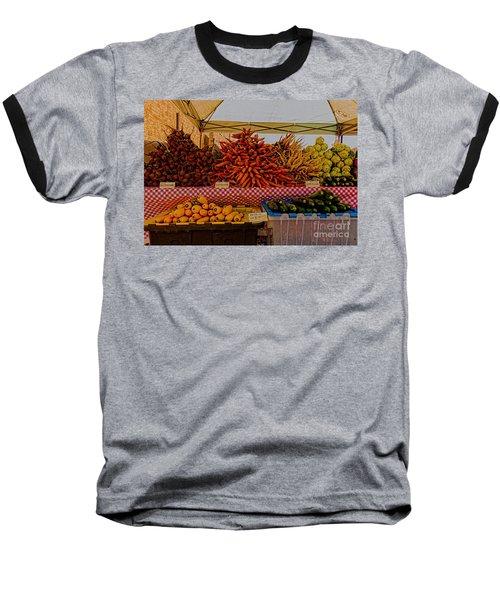 August Vegetables Baseball T-Shirt by Trey Foerster
