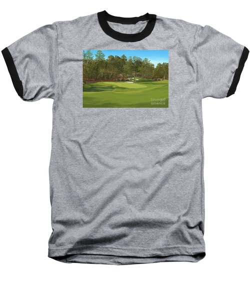Augusta 11 And12th Hole Baseball T-Shirt by Tim Gilliland
