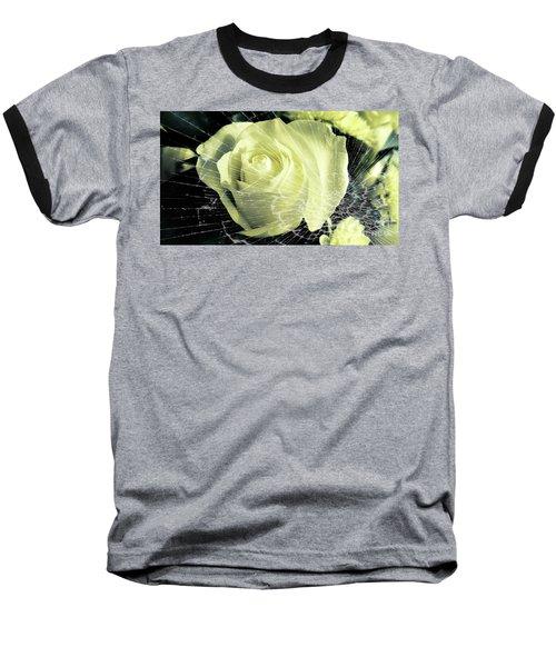 Aunt Edna's Rose Baseball T-Shirt by Rachel Hannah