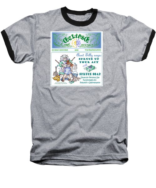 Real Fake News Tilly Ad 1 Baseball T-Shirt by Dawn Sperry
