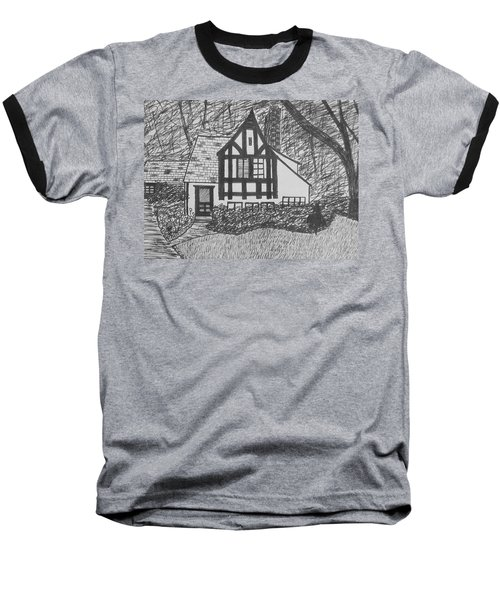 Baseball T-Shirt featuring the drawing Aunt Vizy's House by Lenore Senior