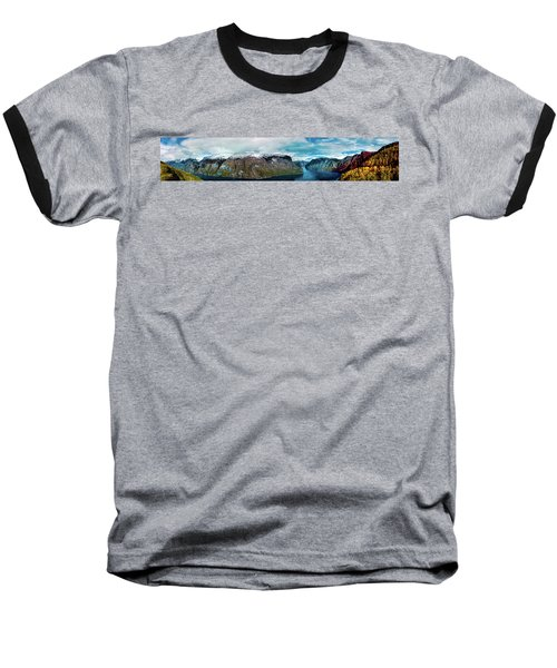 Aurlandsfjorden Panorama Revisited Baseball T-Shirt