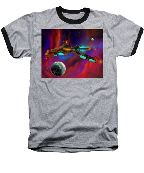 Baseball T-Shirt featuring the painting Auroborus 2015 by James Christopher Hill