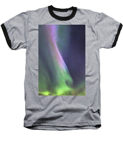 Baseball T-Shirt featuring the photograph Aurora Abstract by Hitendra SINKAR