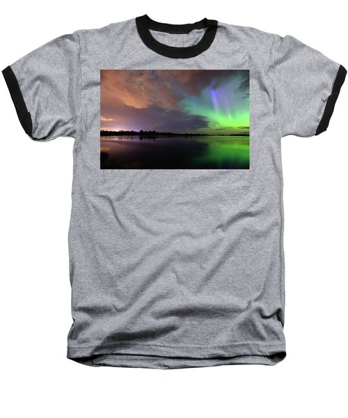 Aurora And Storm Clouds Baseball T-Shirt