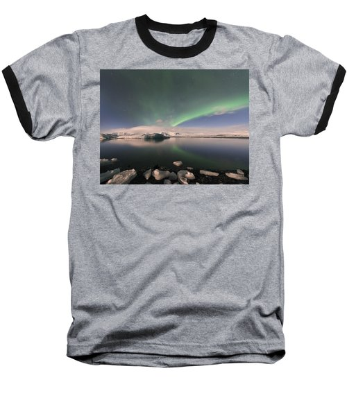 Aurora Borealis And Reflection Baseball T-Shirt