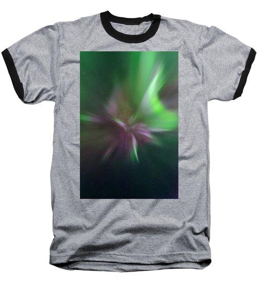 Aurora Borealis Corona Baseball T-Shirt