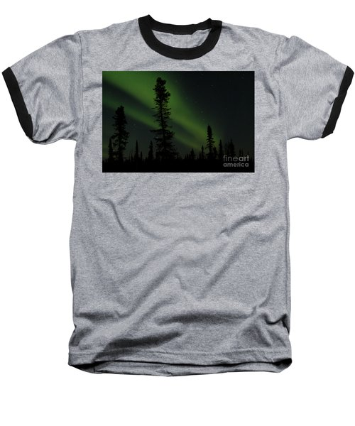 Aurora Borealis The Northern Lights Interior Alaska Baseball T-Shirt by Sharon Mau