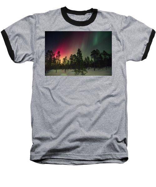 Aurora Borealis Baseball T-Shirt by Thomas M Pikolin