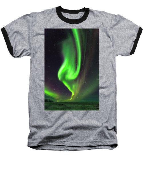 Aurora Burst Baseball T-Shirt by Allen Biedrzycki