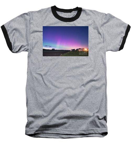 Aurora Energized Pepper Fields Baseball T-Shirt by Patrick Fennell