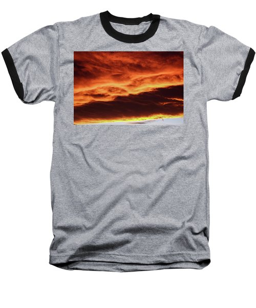 Aurora Firey Sunset Baseball T-Shirt