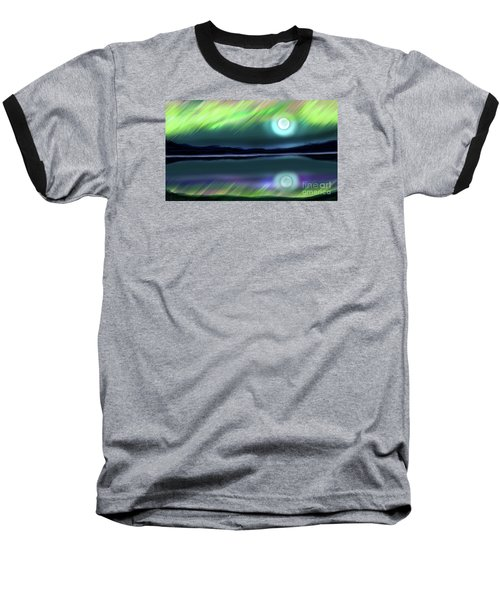 Aurora Moon Lake Baseball T-Shirt