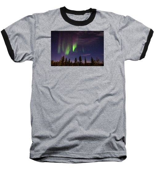 Baseball T-Shirt featuring the photograph Aurora Nights by Serge Skiba