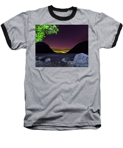 Aurora Over Lake Willoughby Baseball T-Shirt