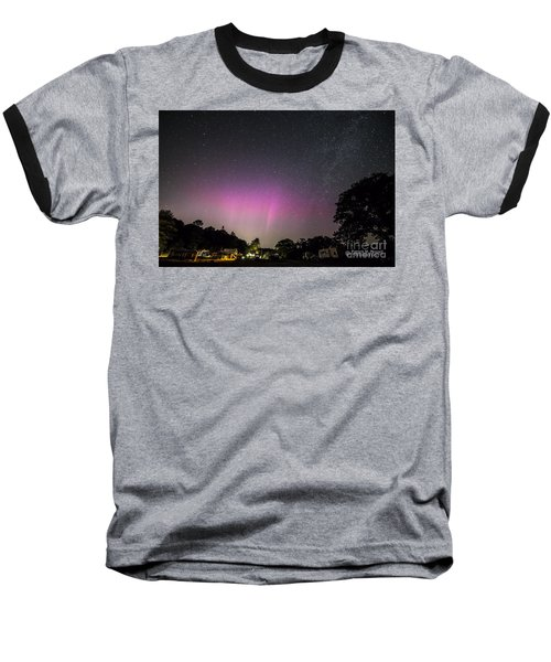 Aurora Over Sagadahoc Bay Campground Baseball T-Shirt