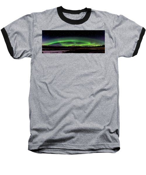 Aurora Spiral Baseball T-Shirt