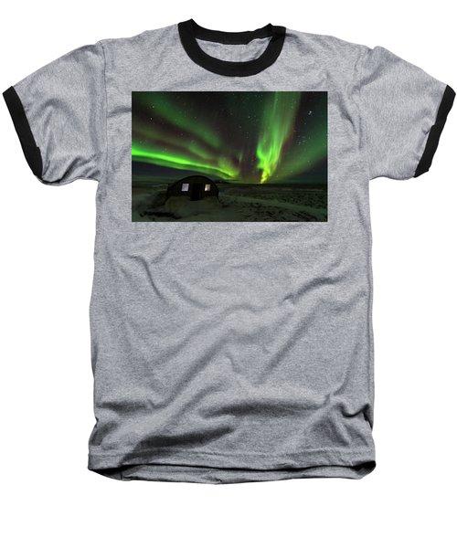 Aurora Storm Baseball T-Shirt by Allen Biedrzycki