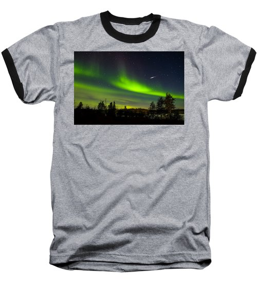 Aurora With Meteor  Baseball T-Shirt