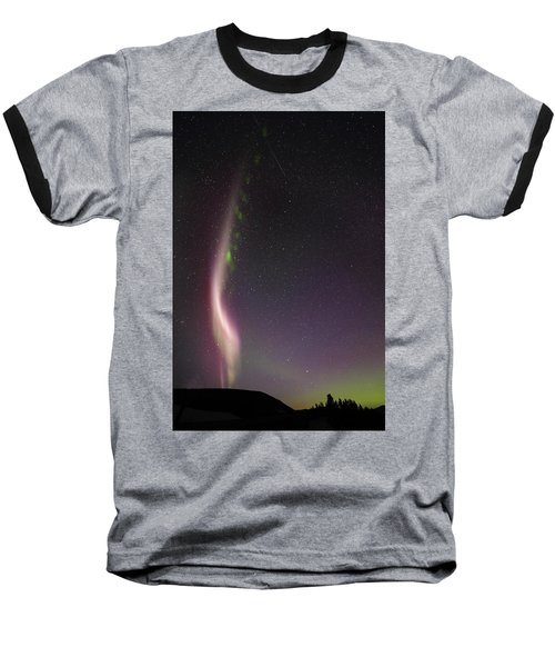 Auroral Phenomonen Known As Steve With A Large Meteor Baseball T-Shirt
