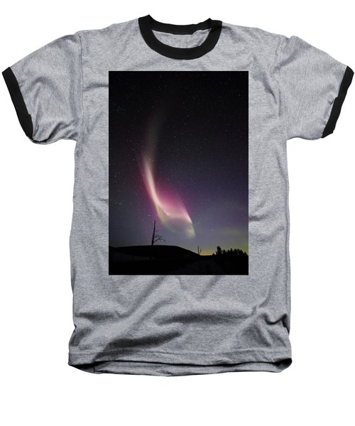 Auroral Phenomonen Knows As Steve, 4 Baseball T-Shirt