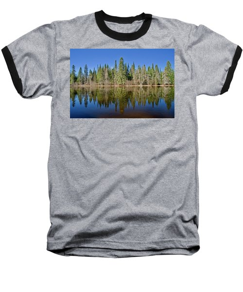 Baseball T-Shirt featuring the photograph Ausable Reflections 1768 by Michael Peychich