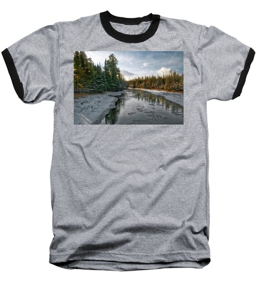 Ausable River 1282 Baseball T-Shirt by Michael Peychich