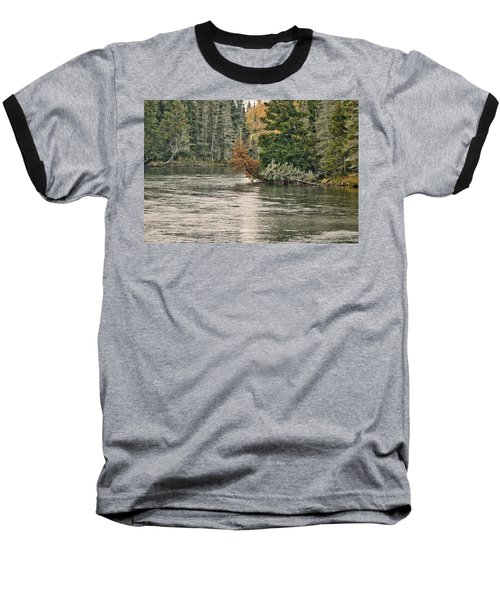 Ausable River 9899 Baseball T-Shirt by Michael Peychich